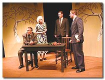 Cast on raked stage